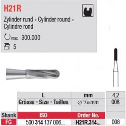 H21R.314.008 - Fraise carbure de tungstène - FG Cylindre rond