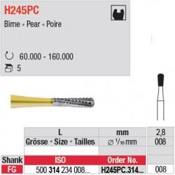 H245PC.314.008 - Fraise carbure de tungstène - FG - Poire