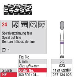 Fraise en carbure - 1124.023HP