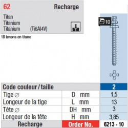 6213-10 - recharge tenons taille 2 (longs)