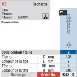 6312-10 - recharge tenons taille 2 (courts)