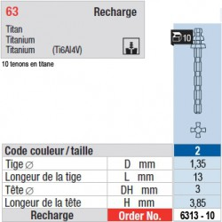 6313-10 - recharge tenons taille 2 (longs)