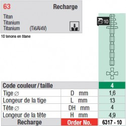 6317-10 - recharge tenons taille 4 (longs)