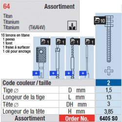 6405SO - Assortiment tenons taille 2 (longs)