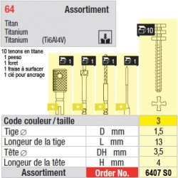 6407SO - Assortiment tenons taille 3 (longs)