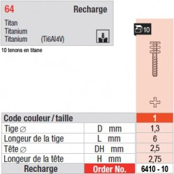 6410-10 - recharge tenons taille 1 (courts)