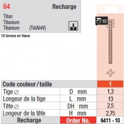 6411-10 - recharge tenons taille 1 (longs)