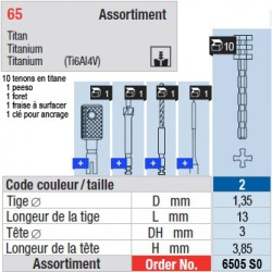 6505SO - Assortiment tenons taille 2 (longs)