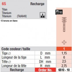 6510-10 - recharge tenons taille 1 (courts)