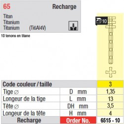 6515-10 - recharge tenons taille 3 (longs)