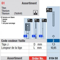 6104SO - Assortiment tenons taille 2 (courts)