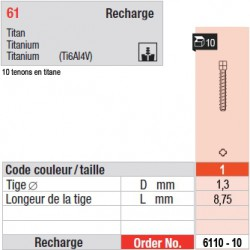6110-10 - recharge tenons taille 1 (courts)