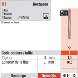 6111-10 - recharge tenons taille 1 (longs)