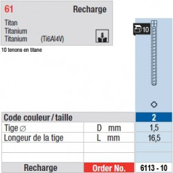 6113-10 - recharge tenons taille 2 (longs)