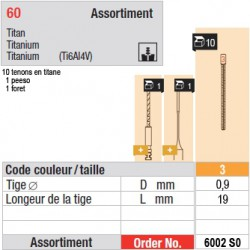 6002SO - Assortiment tenons taille 3