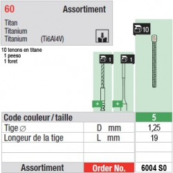6004SO - Assortiment tenons taille 5