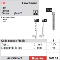 6006SO - Assortiment tenons taille 7