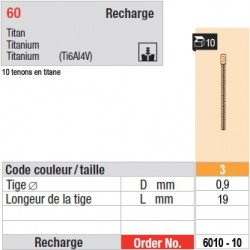 6010-10 - recharge tenons taille 3