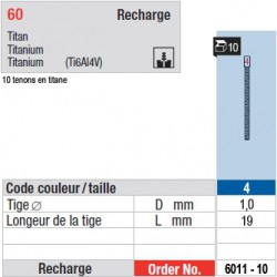 6011-10 - recharge tenons taille 4