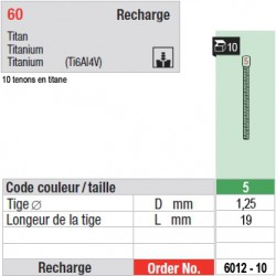 6012-10 - recharge tenons taille 5