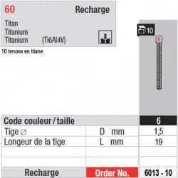 6013-10 - recharge tenons taille 6
