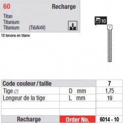 6014-10 - recharge tenons taille 7