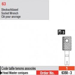 6350-3 - Clé pour ancrage tenons Head Master conique taille 1