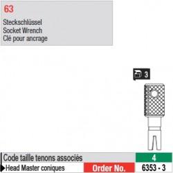 6353-3 - Clé pour ancrage tenons Head Master conique taille 4