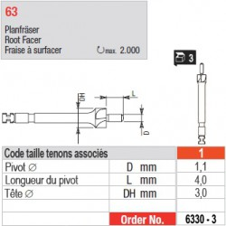6330-3 - Fraise à surfacer tenons Head Master taille 1