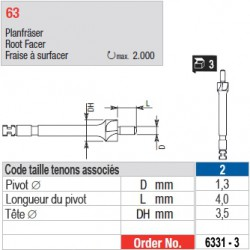 6331-3 - Fraise à surfacer tenons Head Master taille 2