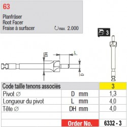 6332-3 - Fraise à surfacer tenons Head Master taille 3