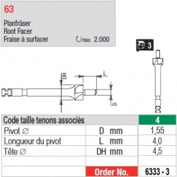 6333-3 - Fraise à surfacer tenons Head Master taille 4