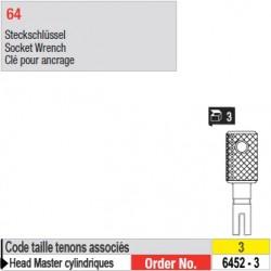 6452-3 - Clés pour ancrage de tenons Head Master cylindriques taille 3