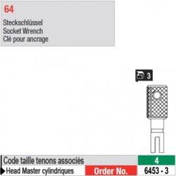 6453-3 - Clés pour ancrage de tenons Head Master cylindriques taille 4