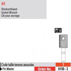 6150-3 - Clés pour ancrage de tenons Pin Master taille 1