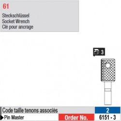 6151-3 - Clés pour ancrage de tenons Pin Master taille 2