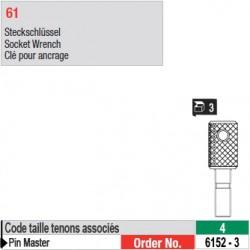 6152-3 - Clés pour ancrage de tenons Pin Master taille 4