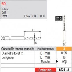 6021-3 - Forets pour tenons Post Master taille 3 (manche long)