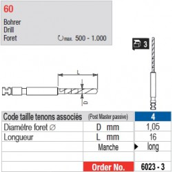 6023-3 - Forets pour tenons Post Master taille 4 (manche long)