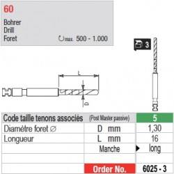 6025-3 - Forets pour tenons Post Master taille 5 (manche long)