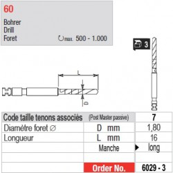 6029-3 - Forets pour tenons Post Master taille 7 (manche long)