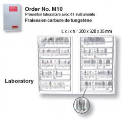 M10 - Présentoir à fraises en carbure de tungstène - laboratoire