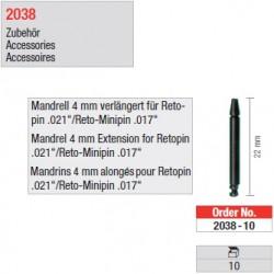 "2038-10 - Mandrins longs pour tenons ""Retopins"" 0,5/0,6 mm"
