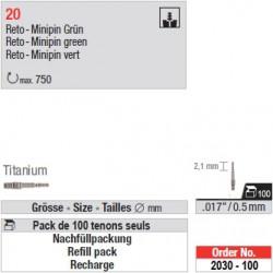 "2030-100 - Recharge de 100 tenons ""RetoMinipins"" Titane"
