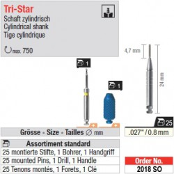 2018SO - Assortiment standard de tenons TriStar 0,8 mm