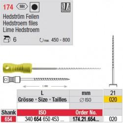 174.21.654.020 - Limes Hedstroem manuelles - courtes