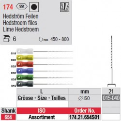 174.21.654 SO1 - Assortiment limes Hedstroem - courtes - diam. fin