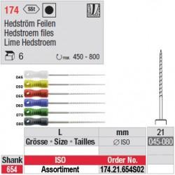 174.21.654 SO2 - Assortiment limes Hedstroem - courtes - diam. large