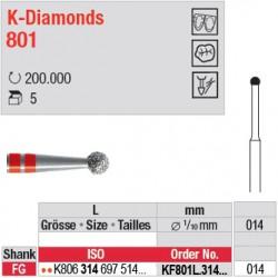 KF801L.314.014 - K-Diamonds boule avec col - grain fin