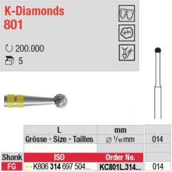 KC801L.314.014 - K-Diamonds boule avec col - grain super fin
